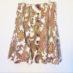 CAbi women's paisley skirt size 10 EUC